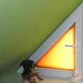 Plissee für Dreiecksfenster