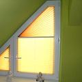 Plissee für Trapezfenster