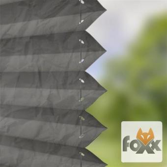 Plissee FOXX CRUSH 04 grau