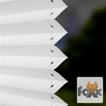 Plissee FOXX BLACKOUT 01 weiß