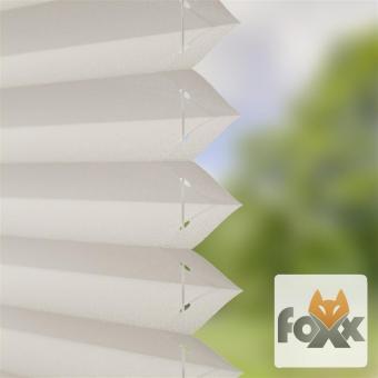 Plissee FOXX UNI 01 weiß