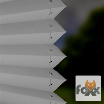 Plissee FOXX BLACKOUT 03 grau